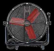 high velocity fan protemp 24″ high velocity drum fan 2 speed 3200 4000 cfm warehouse garage