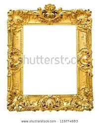 antique black frame. Vintage Gold Picture Frames Antique Round Frame  Isolated . Black