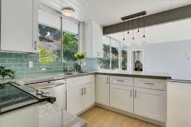 mid century modern kitchen white. Mid Century Modern Kitchen Remodel With White Cabinets Quartz Countertops Creative S