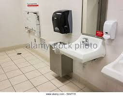 bathroom changing table. Public Bathroom In A Shopping Mall, Lavatories, Soap Dispenser And Mirrors. Oklahoma City Changing Table