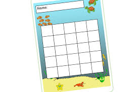 Winter Incentive Charts Free Sea Animals Reward Chart Early Years Eyfs Printable