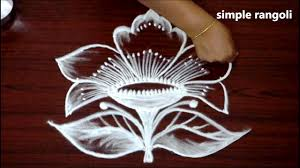 simple flower kolam designs with 5x3 dots geethala muggulu designs easy rangoli with dots
