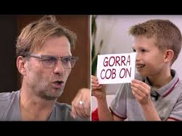 Jurgen klopp's nice guy image has fallen apart again after he launched his latest baffling attack on a reporter on sunday, slamming a question about the premier league title as not appropriate after. Jurgen Klopp Learns Scouse From A Kid Boss Tha Youtube