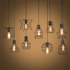 retro lamp shades industry metal pendant lamps holder vintage style iron hanging light shade edison bulb covers home decor kitchen pendant lights outdoor