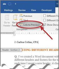 Ms Word Header Microsoft Word How To Insert Different Headers And Footers