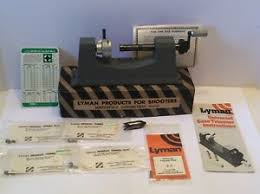 Details About Lyman Universal Case Trimmer 5 Pilots Forster Deburring Tool Chart Reloading Lot
