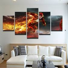 hd printed canvas painting poster flash barry allen painting children s room decor print poster picture