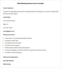 right ii resume template  resume template   create resume online    sample online marketing director resume template free download