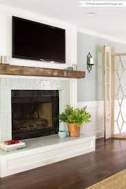 wood beam mantle need this over the woodstove