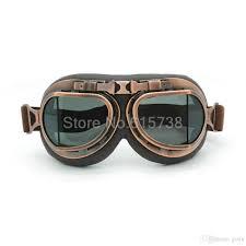 clic bronze motorcross helmet goggles gles with smoking lens retro jet helmet eyewear for cafe racer dirt bike motorcycles sungles motorcycling