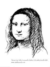 Mona Lisa Coloring Page Famous Paintings Colotring Pages 6