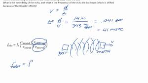 Doppler Effect Equation Light The Doppler Effect A Numerical Example With Sound Reflecting Off A Moving Object