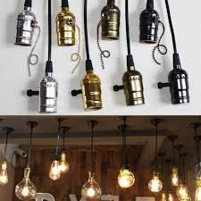 Edison Light Stand Us 3 77 24 Off Coffee Shop Retro Edison Screw Bulb Holder Socket Lamp Pendant Light Stand W Switch Cord Grip Threaded Lamp Holder Decoration In