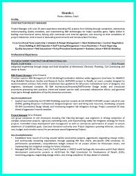 Construction Management Resume Objective Free Resume Example And