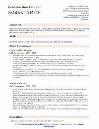 Construction Laborer Resume Samples Qwikresume