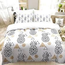 black duvet cover queen white pineapple bedding geometric set sets full