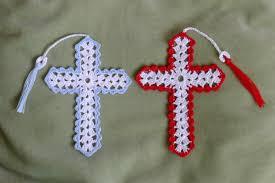 Crochet Cross Pattern Magnificent Cross Bookmark Two Patterns Rainbow Junkie