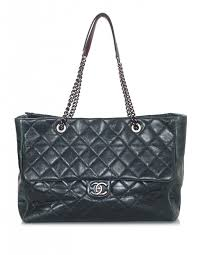 Green Distressed Leather Quilted Tote Bag & Chanel Green Distressed Leather Quilted Tote Bag Adamdwight.com