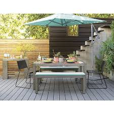 cb2 patio furniture. like the various materials used for fencing eclipse aqua umbrella shade in outdoor furniture cb2 patio