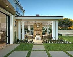 outdoor covered patio with fireplace ideas back porch idea love the ceiling and corner screened