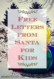 free letters from santa claus