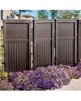 Improvements Suncast Woven Outdoor Privacy Screen - Brown