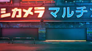 Neon Tokyo Phone Wallpaper
