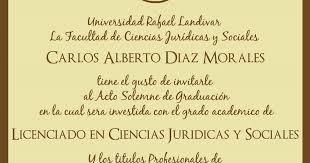 Invitacion De Graduacion Universidad