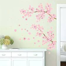 wall decals for living room pink flower branch tree cherry blossoms home decoration wall stickers living wall decals for living room