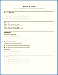 Resume Template Simple Extraordinary Job Resume Template For High School Student 48 Sample Resumes