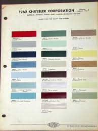 1962 Chrysler Color Paint Dupont Imperial Dodge Dart Lancer