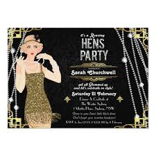 Great Gatsby Invitation Template Personalized Great Gatsby Party Invitations