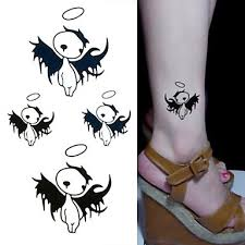 104 1 Pcs Dočasné Tetování Voděodolné Non Toxic Papír Tetovací Nálepky Spodní část Zad Waterproof