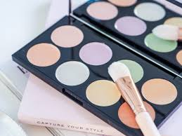 how to use a colour correcting palette mapped out uk makeup revolution
