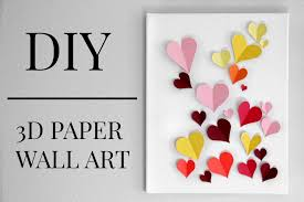on 3d paper wall art diy with diy 3d paper heart wall art under 20 kaitlyn coskun youtube
