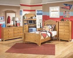 Kids Full Size Bedroom Sets Corner Desk And Wall Bookshelf Pink Four ...