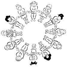 Disegno Di Grande Girotondo Da Colorare Per Bambini