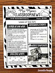 schools newsletter ideas wonderful of free printable newsletter templates for teachers