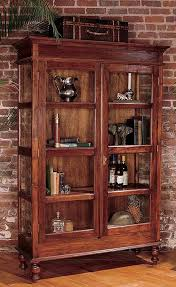 antique bookcase with glass doors 26 best curio cabinets images on