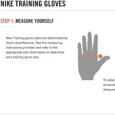 Nike Training Gloves Size Chart