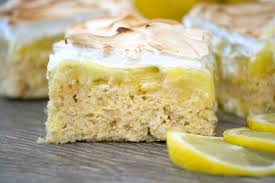 Lemon Meringue Rice Krispie Treats - 365 Days of Baking and More