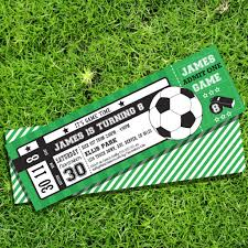 Soccer Party Invitations Soccer Ticket Party Invitation Create Your Own Invite Sunshine