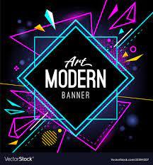Modern art banner abstract wallpaper ...