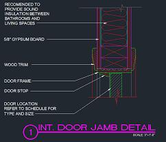 door jamb detail. Unique Detail Door Jamb Detail U2013 Interior  Typical Previous For E