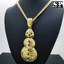 Shop mens bling bling pendants, hip hop chains, iced out rings, gold grillz, iced out watches & everything to make you look like a celebrity or rapper. Iced Out Gold Plated Big Snowman Pendant 6mm 30 Cuban Chain Hip Hop