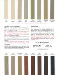 Brixment Color Chart Cement Mortar State Material Mason Supply