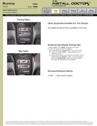 mustang radio wiring harness image wiring 356045 mustang 94 99 radio install on 99 mustang radio wiring harness