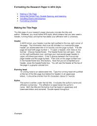 015 Example Of College Research Paper In Apa Format Purdue Owl Mla