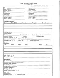 life insurance quote form gorgeous blank insurance card with life insurance quote form