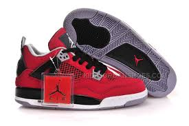 Women Air Jordan 4 Gs Fire Red Basketball Shoes 29070 Price